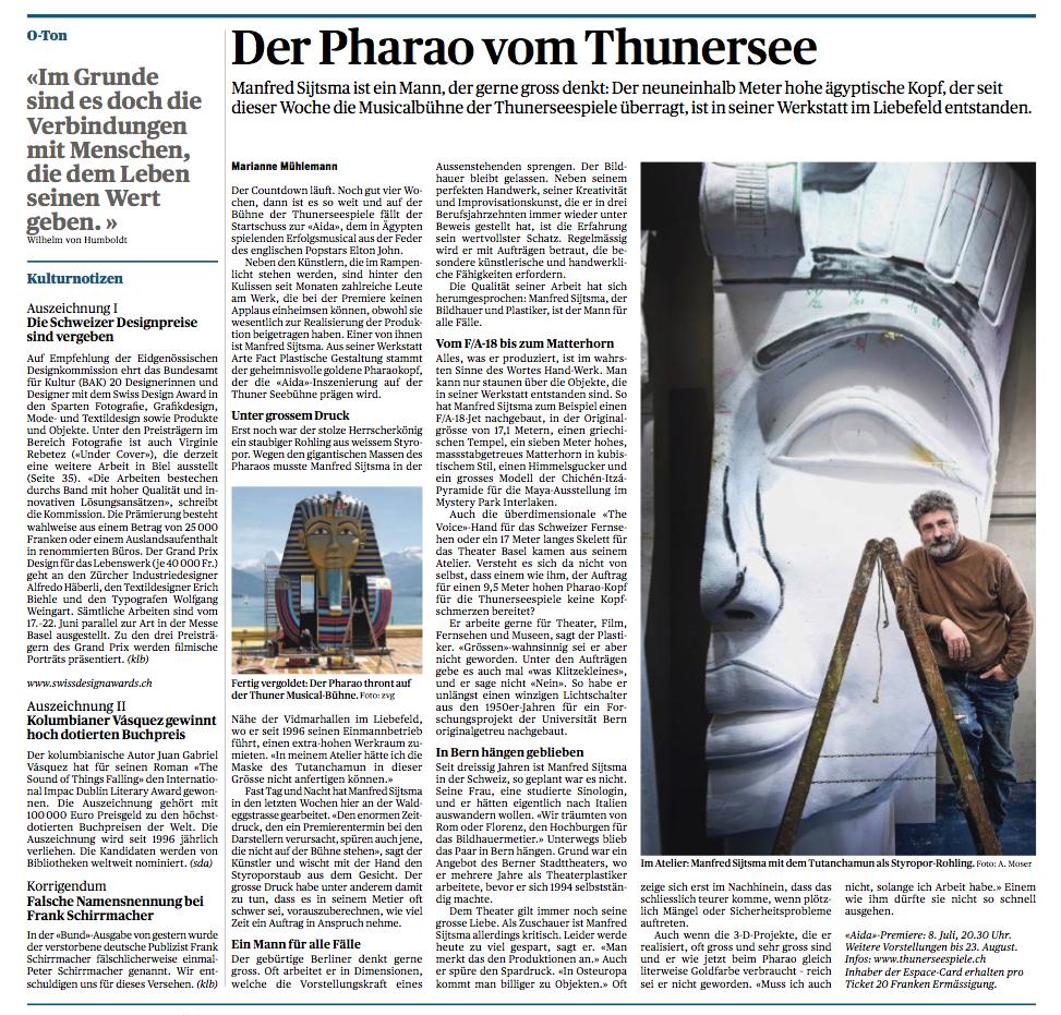 """""""Der Pharao vom Thunersee"""" - Der Bund"""